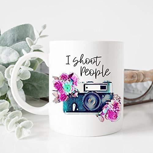 N\A Taza Personalizada Taza de café I Shoot People Fotógrafo Fotografía Cámara Imagen Foto Regalo Regalo de cumpleaños Regalo para su mamá Nona Gaga Pepe