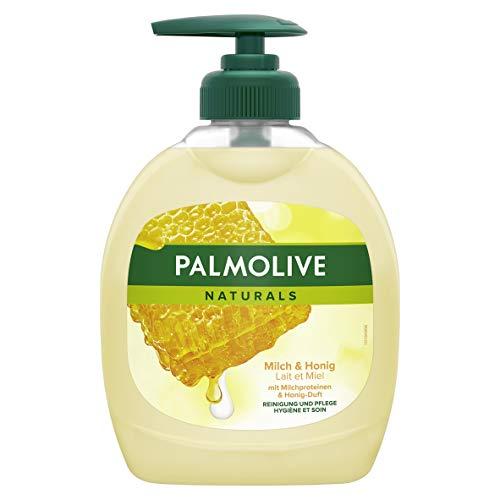 Palmolive Naturals Milch & Honig Flüssigseife, 4er Pack (4 x 300 ml)