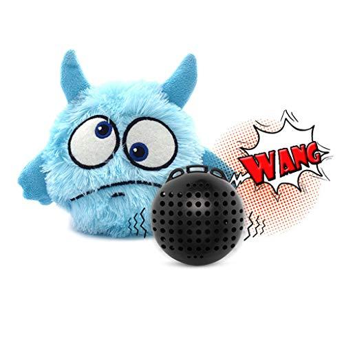 ECMQS Haustier Elektrisch Plüsch Spielzeug, Hund Katze Automatik Plüsch Ball Aktivierung Kauen Fußboden Sauberes Spielzeug