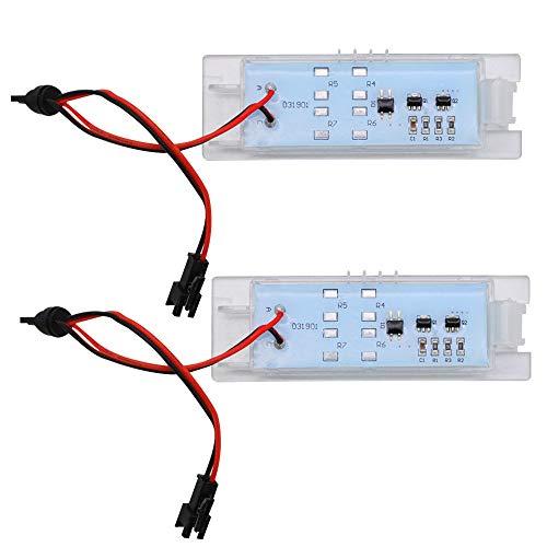 LncBoc Bombillas LED para matrícula de matrícula, luces traseras 18SMD 4014 6000K blanco frío para Zafira B, Astra H, Corsa D, Insignia, Corsa -C, Meriva-A, Tigra-B, Vectra-c, 2 unidades