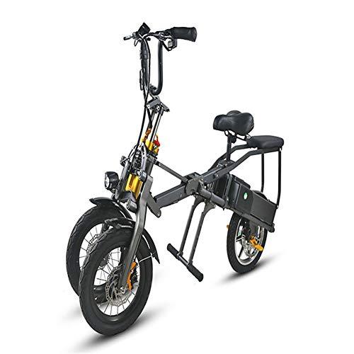 WJH Bicicleta de montaña eléctrica Plegable 350W E-Bici eléctrica de la Bicicleta...
