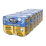 Hero Baby Buenas Noches Tarritos de Verduritas a la Crema - Para Bebés a Partir de los 6 Meses - 6 Packs de 2 x 190 gr