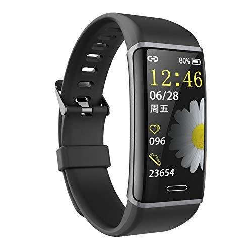 LYB Pulsera Inteligente Pulsera Aptitud Rastreador De Fitness Ritmo Cardíaco Reloj De Monitor De Salud Banda De Ritmo Cardíaco a Prueba De Agua Pulsera Inteligente (Color : Black)
