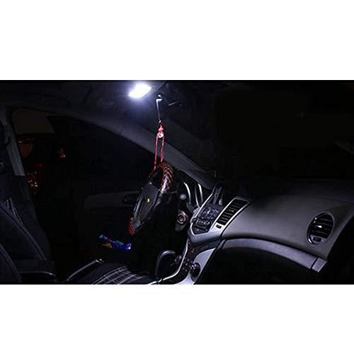 Lampe de lecture LED pour voiture - Lumière blanche ultra brillante - 12 V - Pour Cruze 2009-2014 - Lot de 4