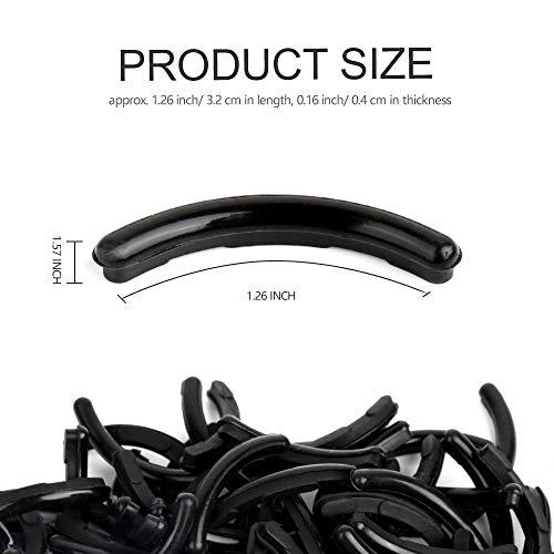 100 Pieces Eyelash Curler Refills Pads,FANDAMEI Black Eyelash Curler Pads Replacement Pads for Universal Eyelash Curler