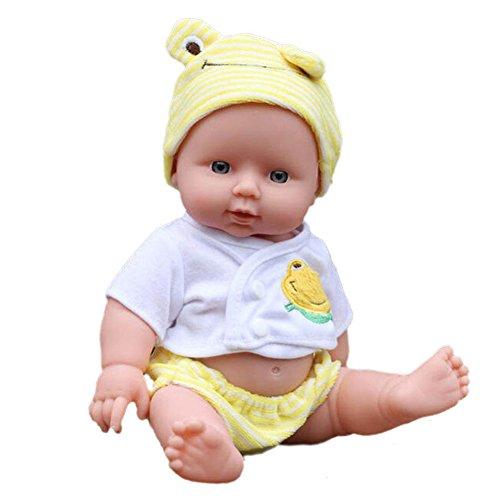 Demiawaking Bambola di Simulazione in Silicone Bambola Reborn Realistica Bambolotto Morbida Regalo Giocattolo per Bambini 30cm