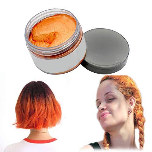 Haarfarbe Wachs, natürliche Matte Frisur für Party. Cosplay, Halloween (Orange)