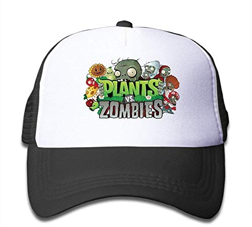 asegybbb Kids Adjustable Plants Vs Zombie Baseball Cap One Size Black