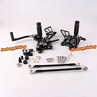 Frames & Fittings Motorcycle Adjustable Rearset Rear Set Footpegs Foot Rest Peg for Honda CBR600RR 03-06 & CBR1000RR 04-07 Spare Parts Pair - (Color: Black)