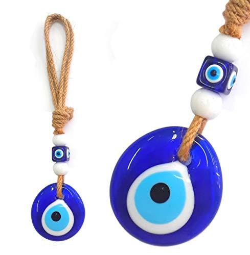 Perlin Nazar Boncugu - Adorno de pared para boncugu turco con ojo azul, 24 cm