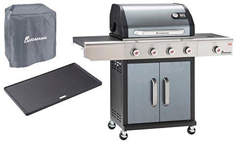 Gasgrill Barbecue of The Champion PTS 4.1 Anthrazit Gratis dazu Schutzhülle + Grillplatte