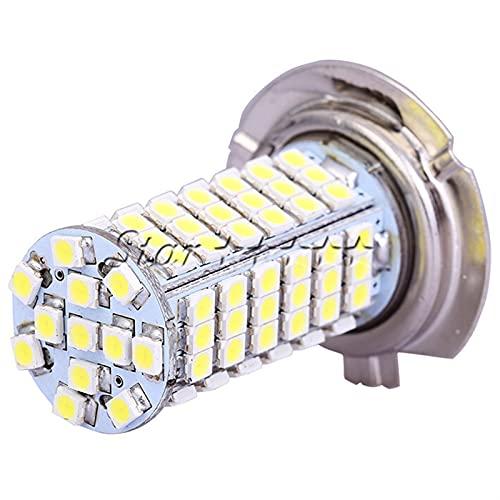 YIKXCF H7 3528 102 LED Fog Light High Power 12V LED Car H7 Fog Lámpara LED Bombilla de luz DC 12V Estacionamiento Estacionamiento (Emitting Color : White)