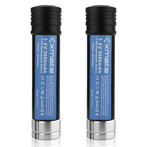Exmate 2 Pack 3.6V 3.0Ah Ni-MH Battery for Black & Decker Versapak VP100 VP100C VP105 VP105C VP110 VP110C VP130 VP143 VP142 VP7240