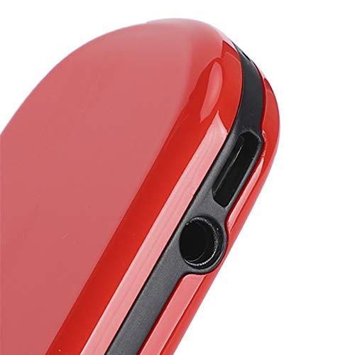 RBSD Mini teléfono móvil, Duradero, multilingüe, Ligero, 1,44 Pulgadas, multilingüe, Resistente, tamaño Compacto de 700 MAH para Personas Mayores con una Sola Mano(Red, Transparency)