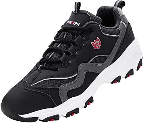 Zapatos de Seguridad Hombre,L91169 SBP Zapatillas de Trabajo con Punta de Acero Ultraligero Transpirables 46 EU,Blanco Gris Negro