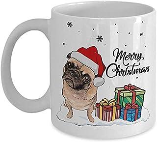 Tasse à café, joyeux Noël Carlin chien tasse à café en céramique tasse meilleur Noël, cadeau d'anniversaire pour les amour...