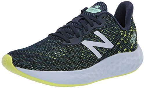 New Balance Women's Fresh Foam Rise V2 Running Shoe, Natural Indigo/Stone Blue/Lemon Slush, 7.5 Wide