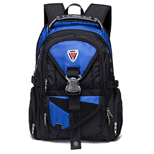 Ssszx - Zaino per computer portatile da 17 pollici in tessuto Oxford borsa da viaggio multifunzionale per la scuola resistente all'acqua per attività all'aperto per donne e uomini,Blu