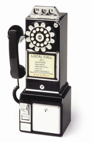 Wild and Wolf Diner Telephone | Black