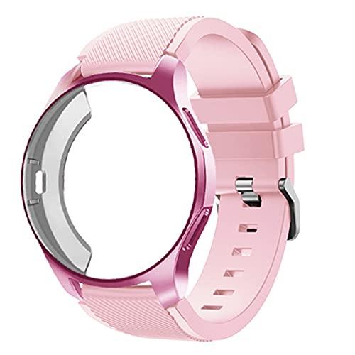 PAZHOU Funda de silicona+banda para Samsung Galaxy reloj 46 mm/42 mm correa Gear S3 Frontier Band Sports watchband+protector caso 42/46 mm
