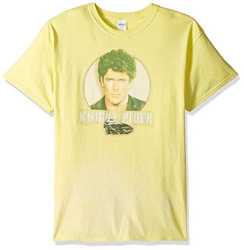 Trevco Men's Knight Rider Short Sleeve T-Shirt, Banana, X-Large