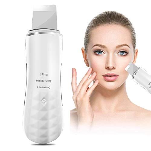 AUKUYEE Ultraschallpeelinggerät Facial Derma Skin Scrubber Gesichtsreinigung Mitesserentferner Vakuumsauger Mitesser Sauger Porenreiniger Pickelsauger Cleaner Gesicht HG14