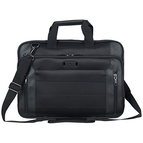 """Kenneth Cole Reaction Checkpoint-Friendly 17.3"""" Laptop & Tablet Business Case Bag, Black, Single Compartment"""