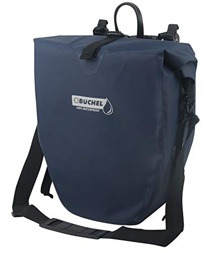 Büchel Unisex– Erwachsene Fahrradtasche für Gepäckträger, 100{d33db44eea7494329393ab63dafd5cd9c26ca89205648d9e25e1ba59505dc4ea} wasserdicht, dressblues, mit Schultergurt, 81518003, dress blues,