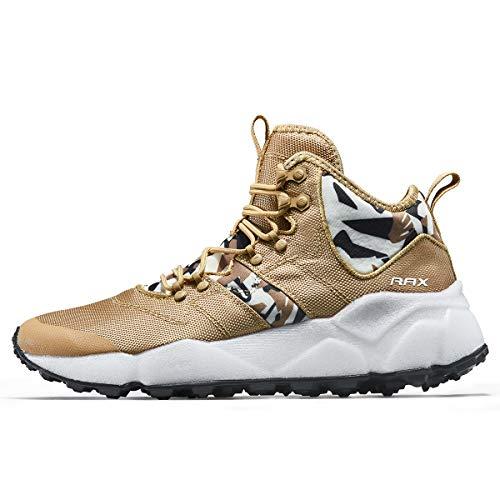 RAX Herren Wanderschuhe, energiedämpfend, leicht, Traillaufschuhe, modische Sneakers, Gelb (Hellkhaki), 41 EU