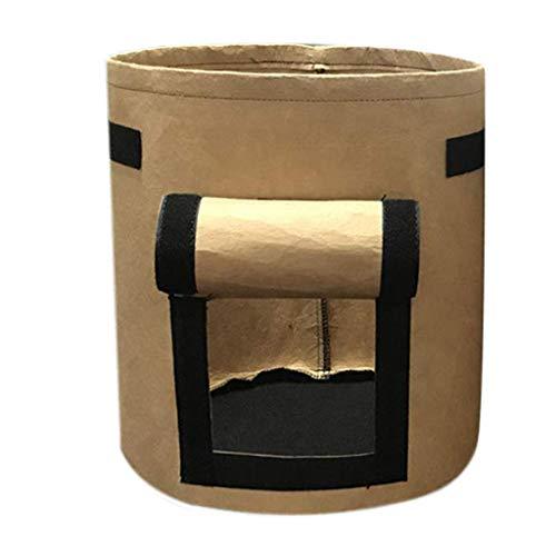 Pflanzgefäß Serria® Pflanze wachsen Taschen Vliesstoff Topf Gartenbeutel Gemüse Kartoffel Pflanzer Tasche für Theken, Schreibtisch,Tisch,Bücherregal,Fensterbank,Flur,Büro Braun 30x30x35cm