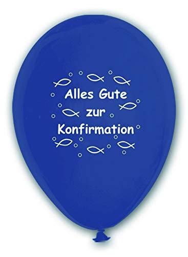 BWS - Verkauf durch luftballonwelt 10 Luftballons Alles Gute zur Konfirmation, BLAU, ca. 30 cm Durchmesser