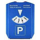 Parkscheibe, NLD/DE/F/GB, mit Eiskratzer und 2x Einkaufswagenchip, blau, Kunststoff, Parkuhr, Auto, Autoteile, Autoinnenraum, Parken
