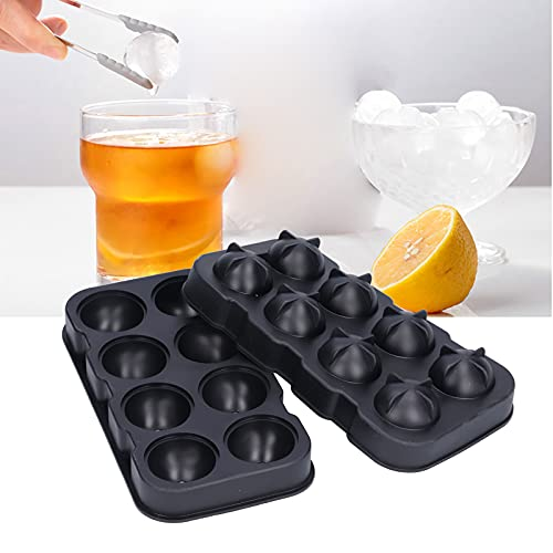 Eiswürfelbehälter, Antihaftverhindert Wasseraustritt Sphärische Silikon-Eisbehälter Hygienisch mit Trichter für Partys zu Hause für Board
