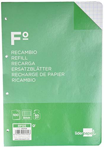 Liderpapel vervangfolie 100 H 4TF-08 vierkant 8 mm 4 boor met rand