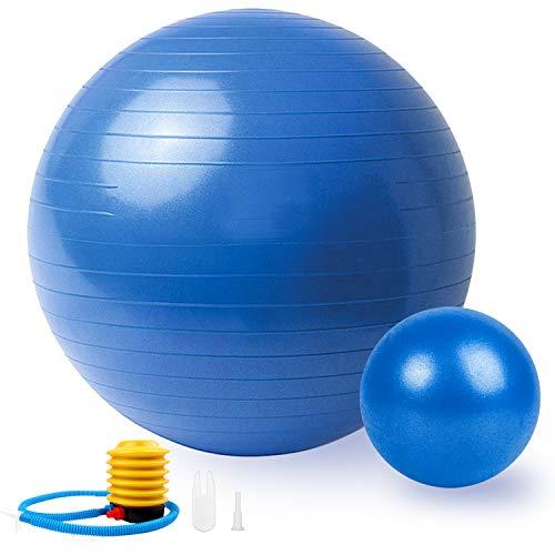 Sportout 2er Pack Gymnastikball 55cm/65cm+25cm,Anti-Burst Yoga Ball,Anti-Rutsch Fitness Ball,Gymnastikball für Pilates,perfekt für Exercise im Zuhause oder im Fitnessstudio,Belastbarkeit bis zu 200kg