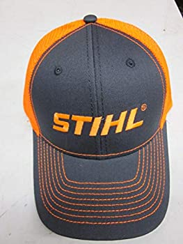 Stihl Officially Licensed Chainsaw Neon Mesh Back Cap Adjustable Snapback Truckers  Neon Orange