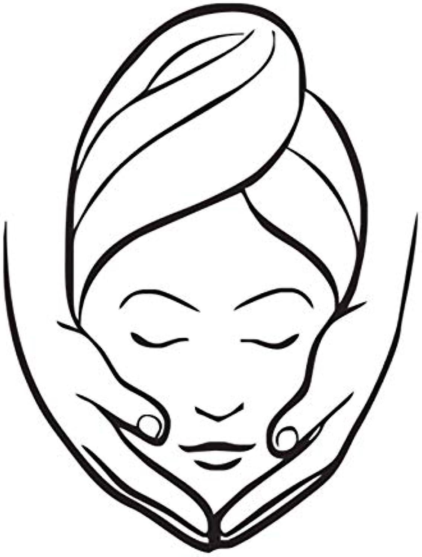 Wuyyii Beauty Salon Massage Wall Stickers Decorative Vinyl for Girls Wall Murals Bathroom 44X58Cm