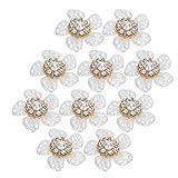 Lairun Botón de Perlas de imitación, Exquisito Colgante de Bricolaje, Atractivo Elegante para Fiestas, Accesorios de joyería para Bodas, Herramienta(Small Rhinestone Pearl Flower)