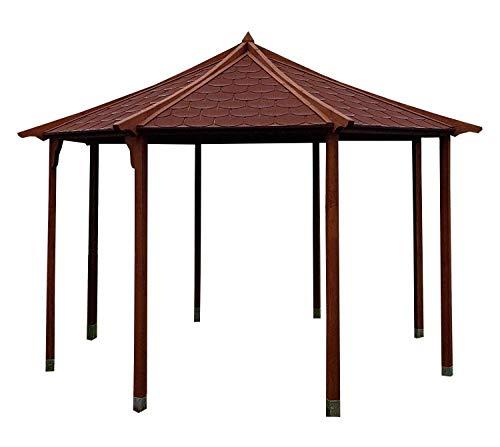 Stan-Wood GARTENLAUBE Holz PAVILLON GARTENHAUS CARPORT Holzdach 3,5m x 3,5m