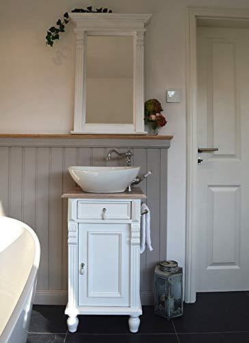 Gäste-Waschtisch im Landhausstil | Wascbecken mit Unterschrank als Landhaus-Badmöbel