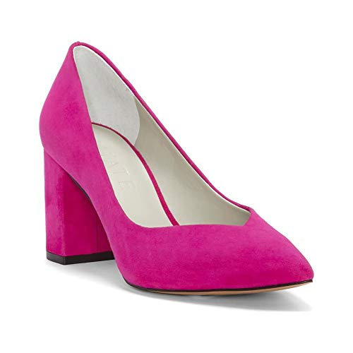 1.STATE Womens Saffy Leather Pointed Toe Classic Pumps, Fushia, Size 6.5