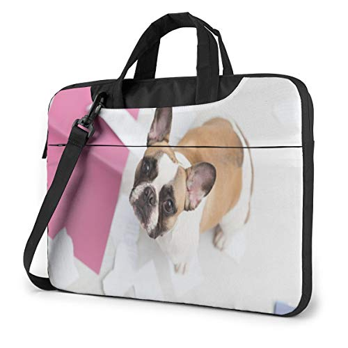 Pet French Bulldog Puppy Laptop Case 13 Inch Computer Carrying Protective Case with Strap Bag