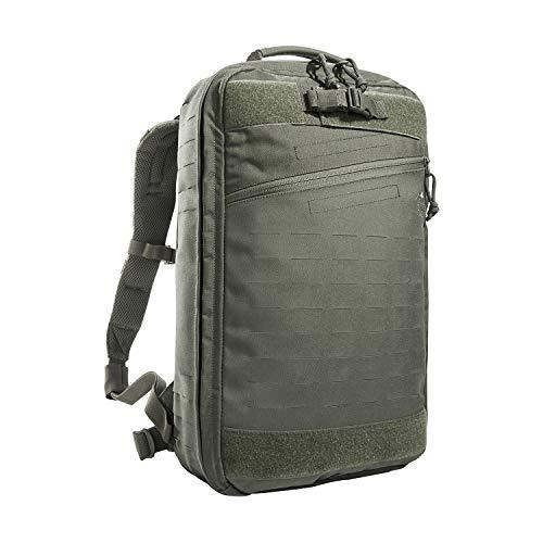 Tasmanian Tiger TT Medic Assault Pack MKII L - Mochila táctica de primeros auxilios para emergencias, viajes, camping, senderismo, ciclismo al aire libre (gris piedra-verde oliva)