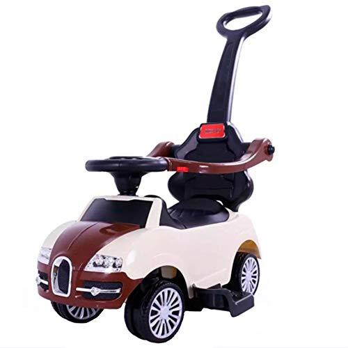 XXW Kinderwagen Kinder Simulation Auto-Modell Walker Abnehmbare bequem und schnell mit Musik Geeignet für Kinder im Alter von 1-5,Weiß