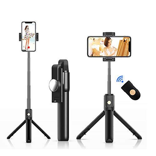 Palo Selfie Trípode, Selfie Stick Móvil Bluetooth para Viaje Autofoto Extensible de...