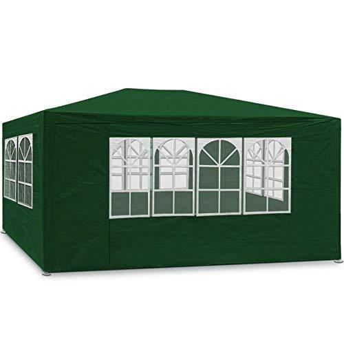 MaxxGarden Partytent - 3x4m - Zijwanden - Groen - 12m2 paviljoen met 4 oprolbare zijwanden | waterafstotend | UV-bescherming 50 +