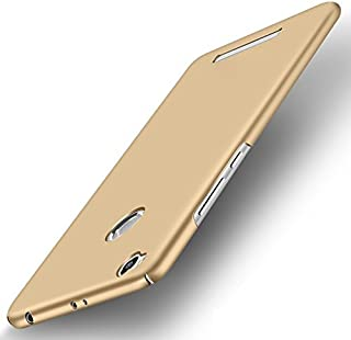 WOW Imagine All Sides Protection 360 Degree Sleek Rubberised Matte Hard Case Back Cover for XIAOMI MI REDMI 3S Prime - Champagne Gold