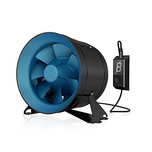 TerraBloom ECMF-250, Quiet 10 Inch Inline Duct Fan with 0-100% Variable Speed Controller,...