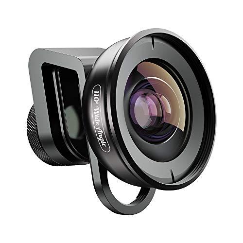Apexel HD Phone Camera Lens-110 Degrés Grand Angle Compatible pour iPhone, Pixel, Huawei, Xiaomi Et Samsung Galaxy Téléphones Caméra