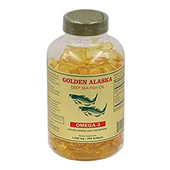 Golden Alaska Deep Sea Fish Oil Omega-3 1000 Mg 200 Capsules by Golden Alaska
